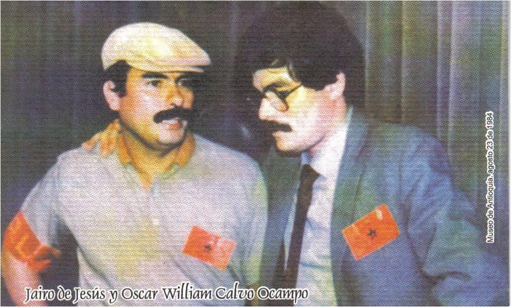 Ernesto y Oscar en la firma de los Acuerdos 1984