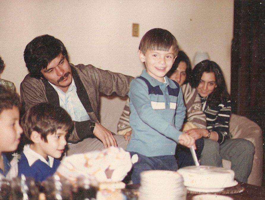 Oscar William Calvo ocampo con su hijo Oscar Iván